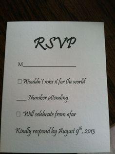 Wedding Response Card Wording                                                                                                                                                     More