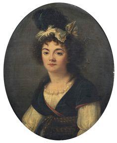 Portrait de femme en buste - Adèle Romany - huile sur toile, 76 x 62 cm, vers 1794-1797 - Musée Jacquemart-André (Paris) © Studio Sébert Photographes