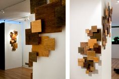 Upon graduating from Virginia Tech in Spring 2010, this was my Senior Studio exhibition. There were 508 wooden squares in all the pieces combined. Yes, I counted...