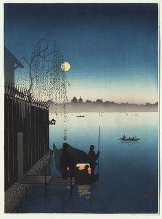 Evening Cool on the Sumida by Shoda Koho (1871 - 1946)