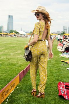 This one-piece getup at the Veuve Clicquot Polo Classic really stuck in our heads – click through to see more pics and vote for your favorite!