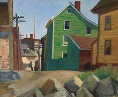 Italian Quarter, Gloucester - Edward Hopper - The Athenaeum Manet, Gloucester, Toulouse, Edward Hopper Paintings, Ashcan School, Robert Henri, World Famous Artists, Urban Life, American Artists