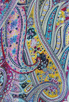 佩兹利纹样 - intricate multicolor paisley