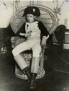 Charlie Chaplin in his Napoleon outfit/costume.