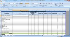 This Is A Sample Cost Estimating Excel Sheet It Is A