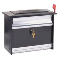 Gibraltar Extra Large Mailsafe Lockable Security Mailbox Black - 2041-6939, Durable