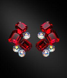 Zdenka Akro Rhinestone earring UH12005-163 - Rhinestone Jewelry | Dancesport Fashion @ DanceShopper.com
