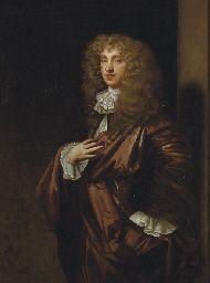 Portrait of John Wilmot, 2nd Earl of Rochester (1647-1680), three-quarter-length, in a burgundy mantle