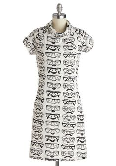 Sight for Four Eyes Dress, #ModCloth. I'm quirky but not quite this quirky! But on the right person, with enough chutzpah, this would be adorbs!