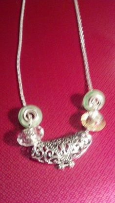 Handmade Silver tone 22 inch necklace with Euro beads. Starting at $12 on Tophatter.com!