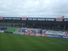 The Bay Radio Stand at the Globe Arena ahead of Morecambe v Northampton (2010)