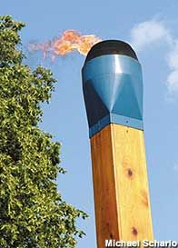 Blue Tip Match.  Wadsworth, Ohio - World's Largest Matchstick
