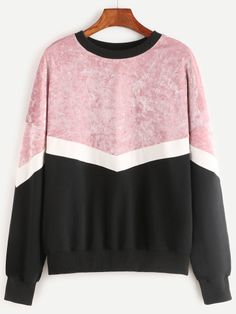SheIn offers Color Block Drop Shoulder Mixed Media Sweatshirt & more to fit your fashionable needs. Winter Outfits, Casual Outfits, Fashion Outfits, Womens Fashion, Crop Top Shirts, Looks Cool, Pretty Outfits, Sweaters For Women, Trending Outfits