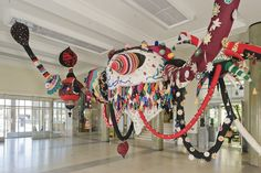 Sumptuous textile sculpture by Joana Vasconcelos http://www.joanavasconcelos.com #art