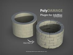 PolyDamage is a script for Max developed by PolyDesign that quickly adds damage and imperfections to the edges and corners of your geometry. 3ds Max Tutorials, 3d Artwork, Artwork Drawings, Drawing Faces, Uv Mapping, 3d Tutorial, Anatomy Tutorial, 3d Max, Concrete Wall