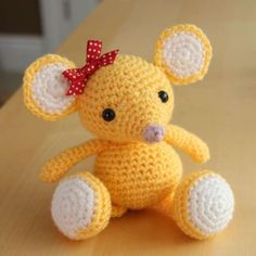Buttons the Baby Mouse • Crochet a Baby Mouse Amigurumi with this easy tutorial which mostly uses simple crocheting techniques.