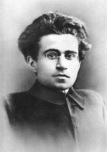 Antonio Gramsci 1891-1937 was an Italian writer, politician, political theorist, sociologist, and linguist. he was a founding member of the communist party of Italy. And at one point in his life was imprisoned by Benito Mussolini's fascist regime.