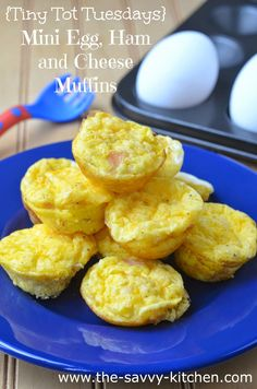 The Savvy Kitchen: {Tiny Tot Tuesdays} Mini Egg, Ham and Cheese Muffins