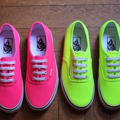 Vans Neon Shoes - Shop for Vans Neon Shoes on Wheretoget Neon Vans, Neon Shoes, Vans Shoes, Shoes Sneakers, Colored Shoes, Cute Vans, Cute Shoes, Me Too Shoes, Awesome Shoes