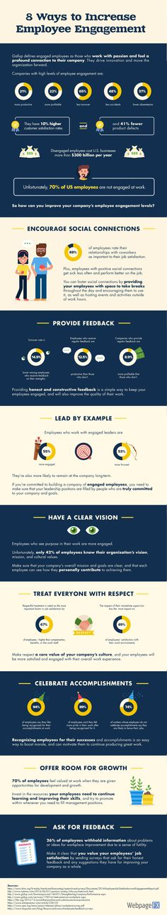 8 Ways to Increase Employee Engagement #Infographic #Business