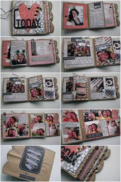 Treasured Memories - Paper Bag Mini Album by Karen
