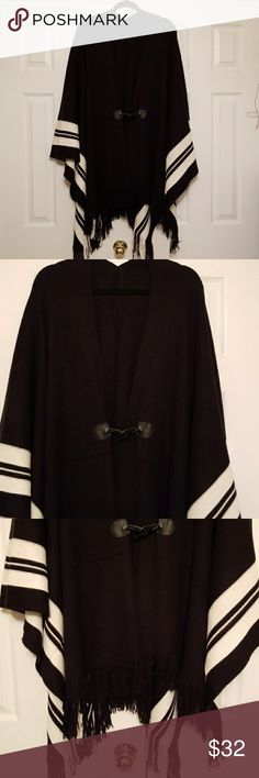Women's Cape Black and white cape/shawl. Very good condition. Used twice. Jackets & Coats Capes
