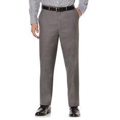 Savane Premium Flex Gab Stretch Dress Pants, Men's, Size: 42X30, Dark Grey