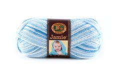 JAMIE- BLUE STRIPES - This modern update of our classic Jamie® yarn features a sophisticated sherbet color palette and a versatile DK weight. Snuggly soft, machine washable and dryable this yarn is perfect for every baby project.