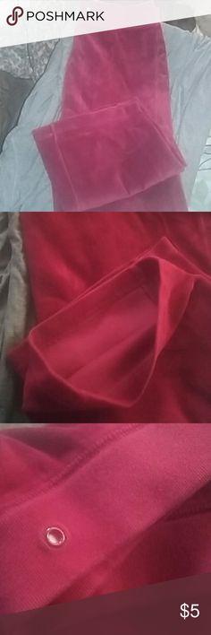 Lounge pants Wine color. No tag...fits size S/M. Good condition Pants Wide Leg