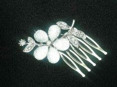 Hibiscus Crystal Hair comb