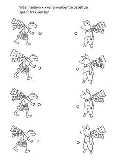 Waar hebben kikker en varkentje dezelfde sjaal aan?