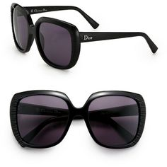 Dior Taffetas Square Sunglasses ($395) ❤ liked on Polyvore