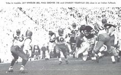 1957 Oregon-Stanford football game at Palo Alto, CA. From the 1958 Oregana (University of Oregon yearbook). www.CampusAttic.com