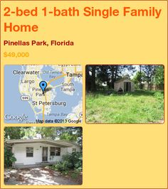 2-bed 1-bath Single Family Home in Pinellas Park, Florida ►$49,000 #PropertyForSale #RealEstate #Florida http://florida-magic.com/properties/8175-single-family-home-for-sale-in-pinellas-park-florida-with-2-bedroom-1-bathroom