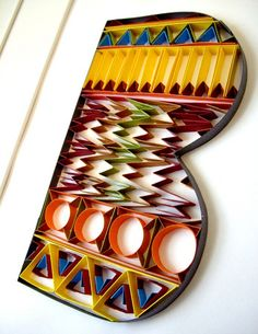 Quilled B by all things paper, via Flickr