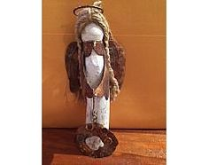 "DRIFTWOOD ANGEL ORNAMENT, 6""H"