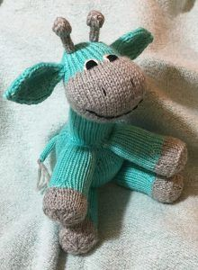 Free knitting pattern for Sock Giraffe toy