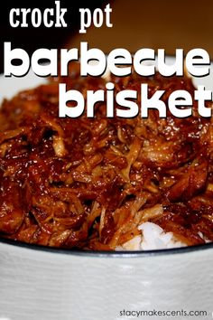 Crockpot Barbecue Brisket. Brisket is a very tough meat, but it becomes moist and tender when slow cooked in a crock-pot.