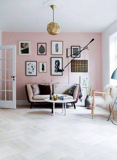 Dusky wall paint gives the ambience tenderness- Altrosa Wandfarbe verleiht dem A. - Dusky wall paint gives the ambience tenderness- Altrosa Wandfarbe verleiht dem Ambiente Zärtlichkeit Dusky wall paint gives the ambience tenderness - - Pastel Living Room, Blush Pink Living Room, Murs Roses, Deco Rose, Piece A Vivre, Pink Room, Dusky Pink Bedroom, Bedroom Black, Pink Walls