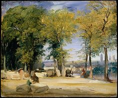 Richard Parkes Bonington, View near Rouen (1825)