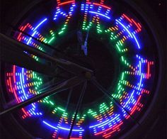 Programmable Wheel Spoke Lights  Light up the streets and stand out from the crowd with the programmable wheel spoke lights. These custom spoke lights equip your bike with 32 LEDs you can program into your own personal multicolored light show thatll turn heads everywhere you pedal to.  $11.85  Check It Out  Awesome Sht You Can Buy