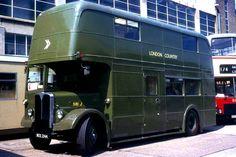 as Uniform Distribution Vehicle at Aldenham Works London Transport, Public Transport, Tow Truck, Trucks, Uniform Distribution, Automobile, Routemaster, Buses And Trains, Bus Coach