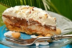 Chocolate Haupia Pie This is not my recipe but its so ono that I had to share it with you. Its from Genni of sweetandcrumby.com who made he...