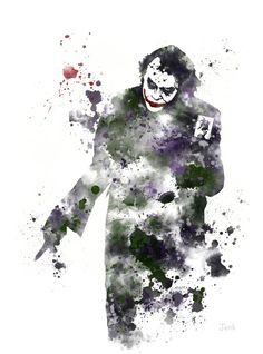 Poster mancha pintura Joker
