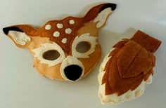 Animal dress-up corner for the kiddies!  Meadow the  White Tail Deer Pretend Play Mask by HuntingFaeries, $32.00