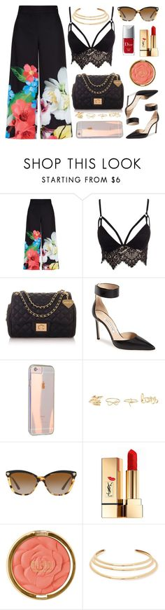 """Forget Me Not"" by itsybitsy62 ❤ liked on Polyvore featuring Ted Baker, Club L, Topshop, Manolo Blahnik, Charlotte Russe, Versace, Yves Saint Laurent, Milani, Kenneth Jay Lane and Christian Dior"