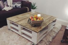 Shabby Chic Pallet Coffee Table LEMMIK XL in Farmhouse Style Reclaimed & Distressed Wood, Large Living Room Table, Boho beachy vibe decor LEMMIK XL Pallet Coffee Table in Farmhouse Style Reclaimed & - Mobilier de Salon Coffee Table Styling, Diy Coffee Table, Coffee Table Design, Diy Table, Coffee Table Shabby Chic, Coffee Table Using Pallets, Table From Pallets, Diy Pallet Table, Coffee Table Out Of Pallets