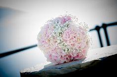 Summer Wedding Bouquet - Hydrangea and Gypsophila