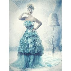 Ice Queen by Heike Suhre ❤ liked on Polyvore featuring models, backgrounds and people