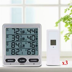 Ambient Weather Wireless Indoor Outdoor 8 Channel Thermo Hygrometer Sensors Kit